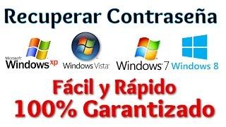 Recuperar la contraseña de Windows XP, Vista, 7, 8, 8.1 100% garantizado | Resetear password Windows