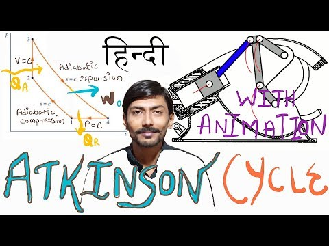 [HINDI]ATKINSON CYCLE ~ WITH ANIMATION ~ PRACTICAL USAGE ~ MILLER CYCLE ~ ALL DETAILS