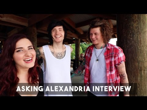 Asking Alexandria (Denis Stoff and Ben Bruce) Interview with Tori Kravitz | Never-Before-Seen