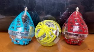 Trompos Cometa SPIDER 3 Pack Spin Top Unboxing and Review.