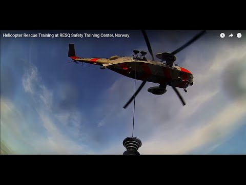 Helicopter Rescue Training at RESQ Safety Training Center, Norway