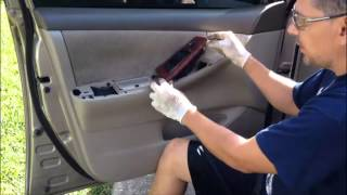 How to remove a door panel - 2005 Toyota Corolla