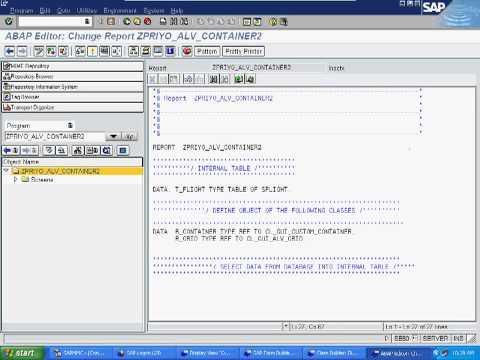 SAP ABAP Basic ALV Report using OOPS (OO ABAP)