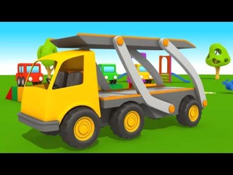 Leo Junior und der Autotransporter! 3D Animation für Kinder