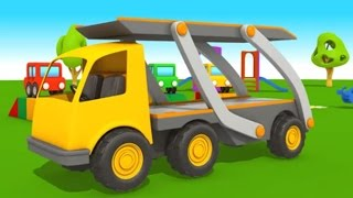 Leo Junior und der Autotransporter! 3D Animation für Kinder