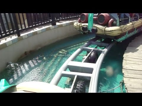 롯데 월드 한국 Atlantis Adventure Roller Coaster [HD] POV FRONT Lotte World South Korea