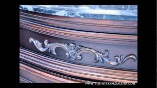 Antique Vanity Set - Double Sink - Priscilla