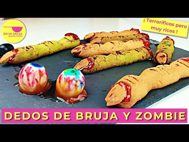Dedos de Bruja y Zombie 👻 8 COMIDAS PARA HALLOWEEN