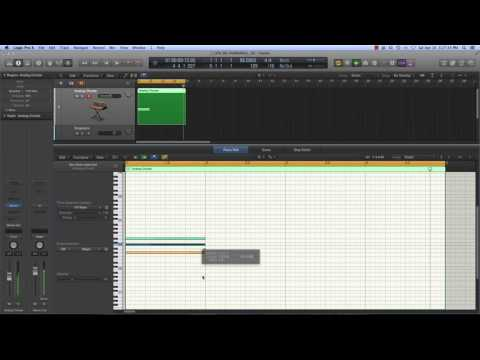 Logic Pro X - Piano Roll Shortcuts and Key Commands