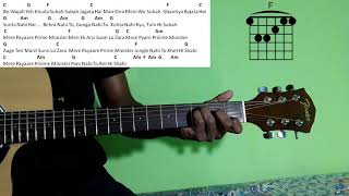 Guitar Chords Mere Pyaare Prime Minister | Arijit Singh new song | ShankarEhsaanLoy | MPPM chords |