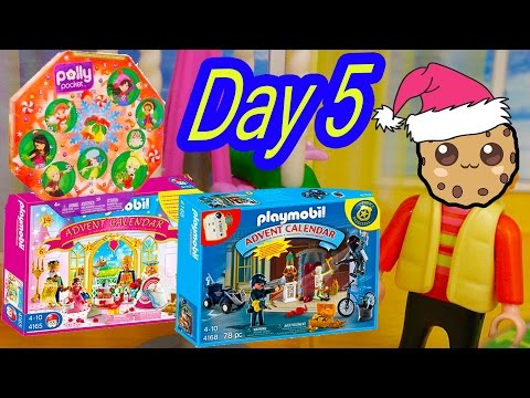 Polly Pocket, Playmobil Holiday Christmas Advent Calendar Day 5 Toy Surprise Opening Video