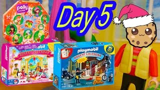 polly pocket playmobil holiday christmas advent calendar day 5 toy surprise opening video