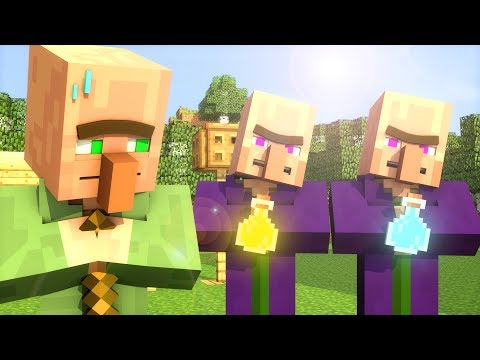 Villager & Witch Life 1 - Minecraft Animation