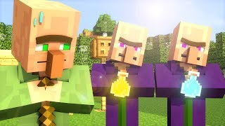 Repeat youtube video Villager & Witch Life 1 - Minecraft Animation