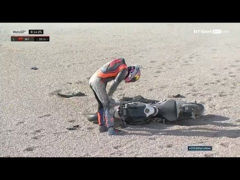 JACK MILLER CRASH VALENCIA TEST DAY 2 MOTOGP 2018