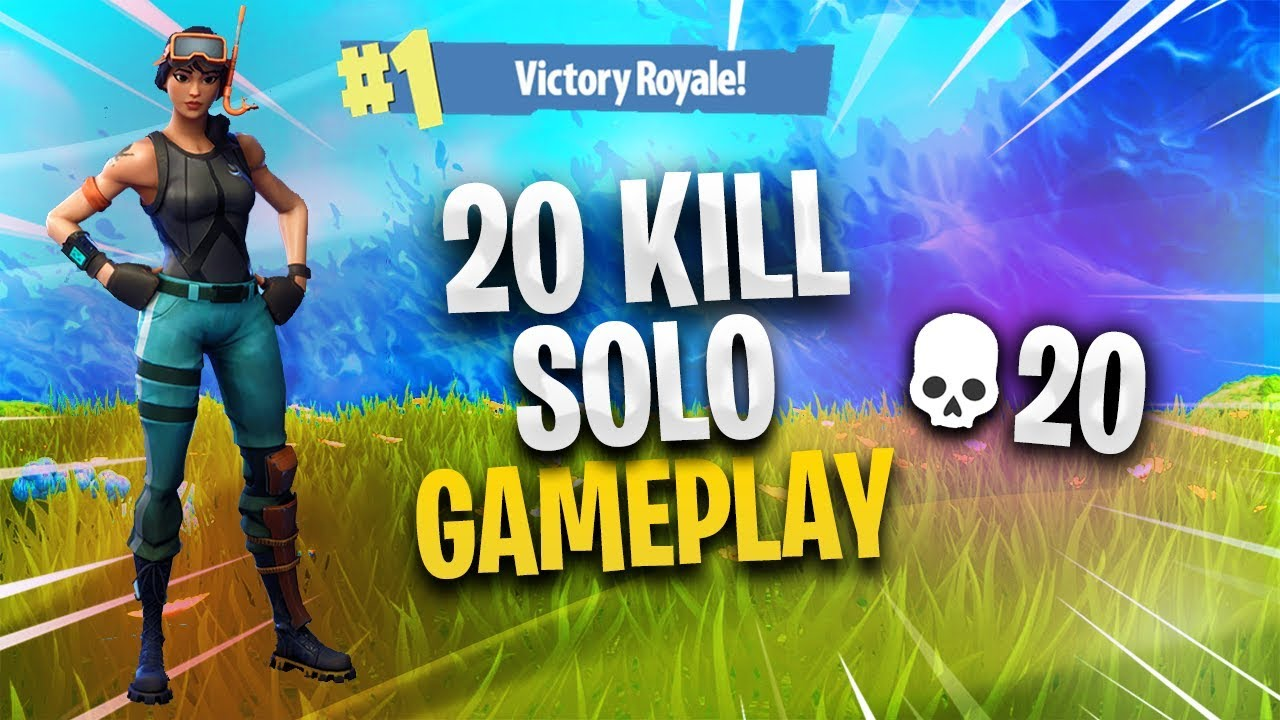 Insane 20 Kill Solo Win Fortnite Battle Royale Youtube