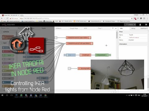 Controlling Ikea Tradfri Lights From Node Red Youtube