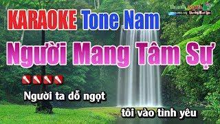 Người Mang Tâm Sự Karaoke | Tone Nam - Nhac Sống Thanh Ngân
