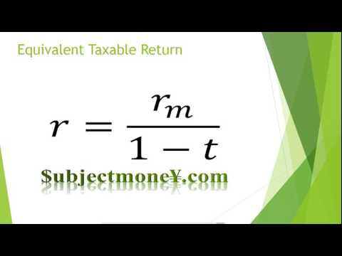 Taxable Corporate Bonds vs Municipal Bonds Tax Exempt Non taxable After Tax Equivalent Formula
