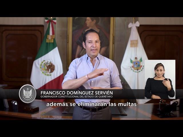 Anuncia el gobernador Francisco Domínguez nuevos apoyos para contribuir a la recuperación económica