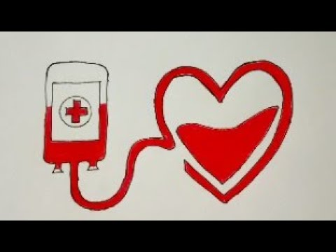 How To Draw Blood Donation Colouring Easy Drawing Donate Blood Help Someone Drawing Poster Ideas Youtube