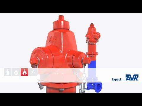 Animation of AVK dry barrel fire hydrant