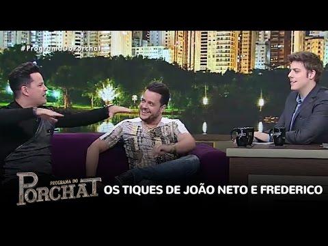 Miopia, tiques e gagueira: João Neto e Frederico riem de si mesmos
