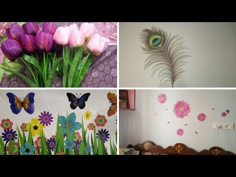 Home Decor Shopping Haul   Wall stickers, Curtains & More Decor