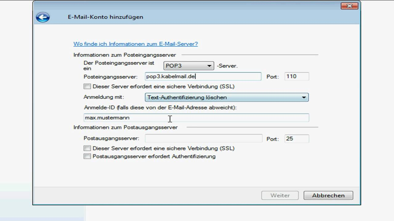 Windows Live Mail Einrichten T-Online