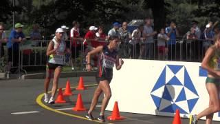 Чемпионат мира по лёгкой атлетике 2013, IAAF, предпоследний круг, спортивная ходьба девушки 20км