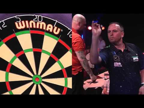 (DO NOT PUBLISH UNTIL 1/6/18) Darts World Trophy 2017 Round 1 Labanauskas vs Nilsson