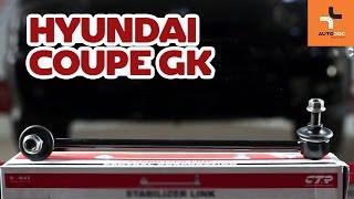 Πώς θα αντικαταστήσετε Βάση στήριξης γόνατου ανάρτησης HYUNDAI COUPE (GK) - εγχειριδιο