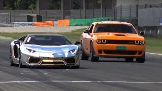 Dodge Challenger SRT Hellcat 'General Lee' vs Lamborghini Aventador