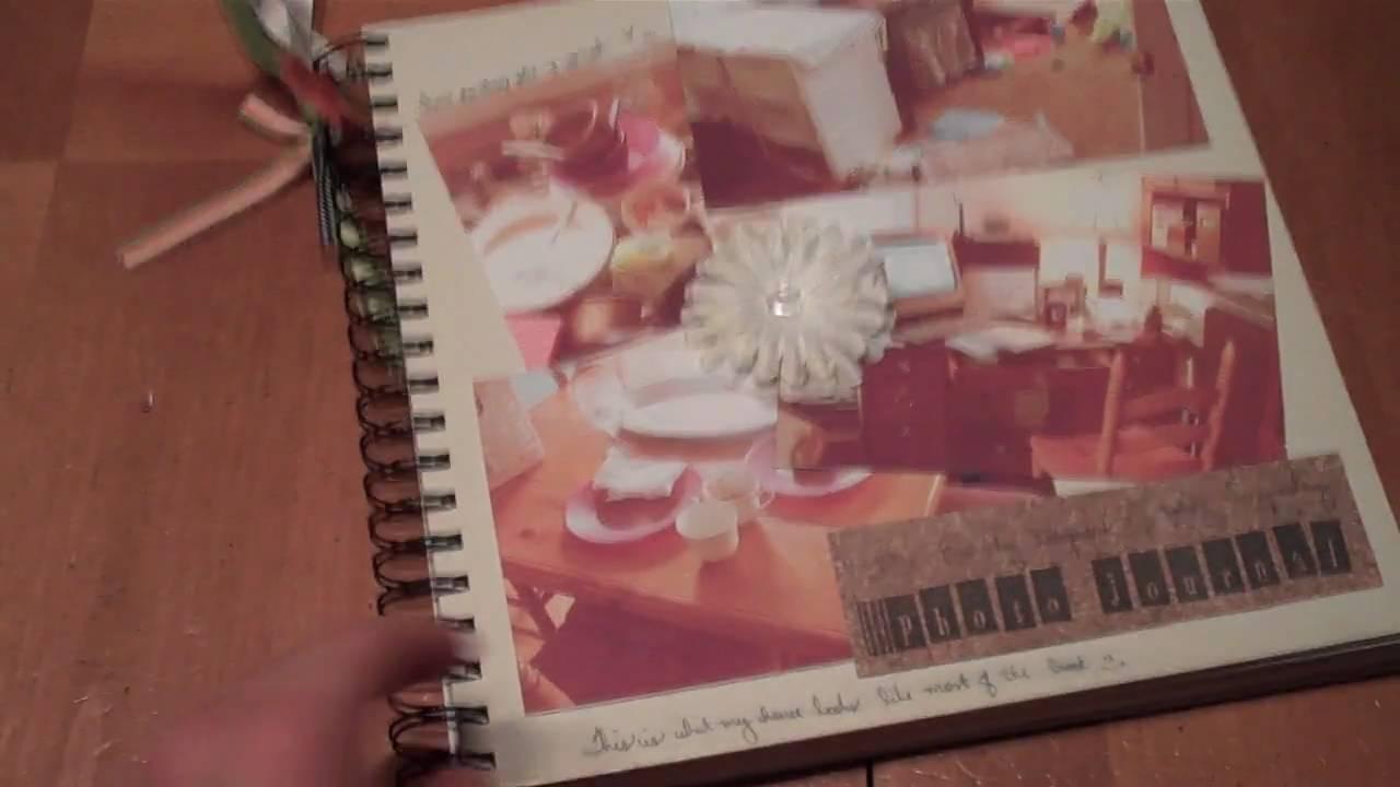 Vintage style scrapbook ideas - Photo Journal Old Style Scrapbook
