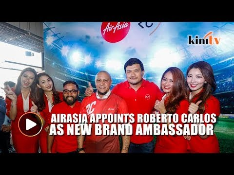Roberto Carlos appointed AirAsia global brand ambassador