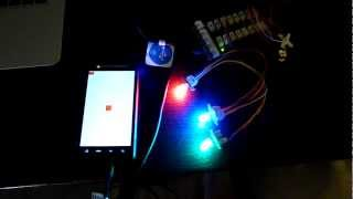 Android & Arduino RGB LED for MicroBridge