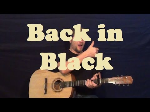 Back In Black (AC/DC) Guitar Lesson Licks Chords Strum How to Play ...