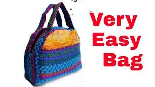 Very Easy बैग बनाना ज़रूर सीखें ll market bag ll shopping bag ll lunch bag ll shoulder bag