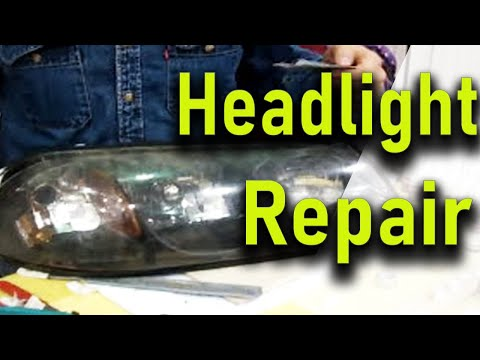 How To Fix Crack On Headlight With Black Bull Adhesive