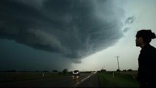 Tornado Surprise & Monster Hail from Creepy Texas Thunderstorms  - VLOG3