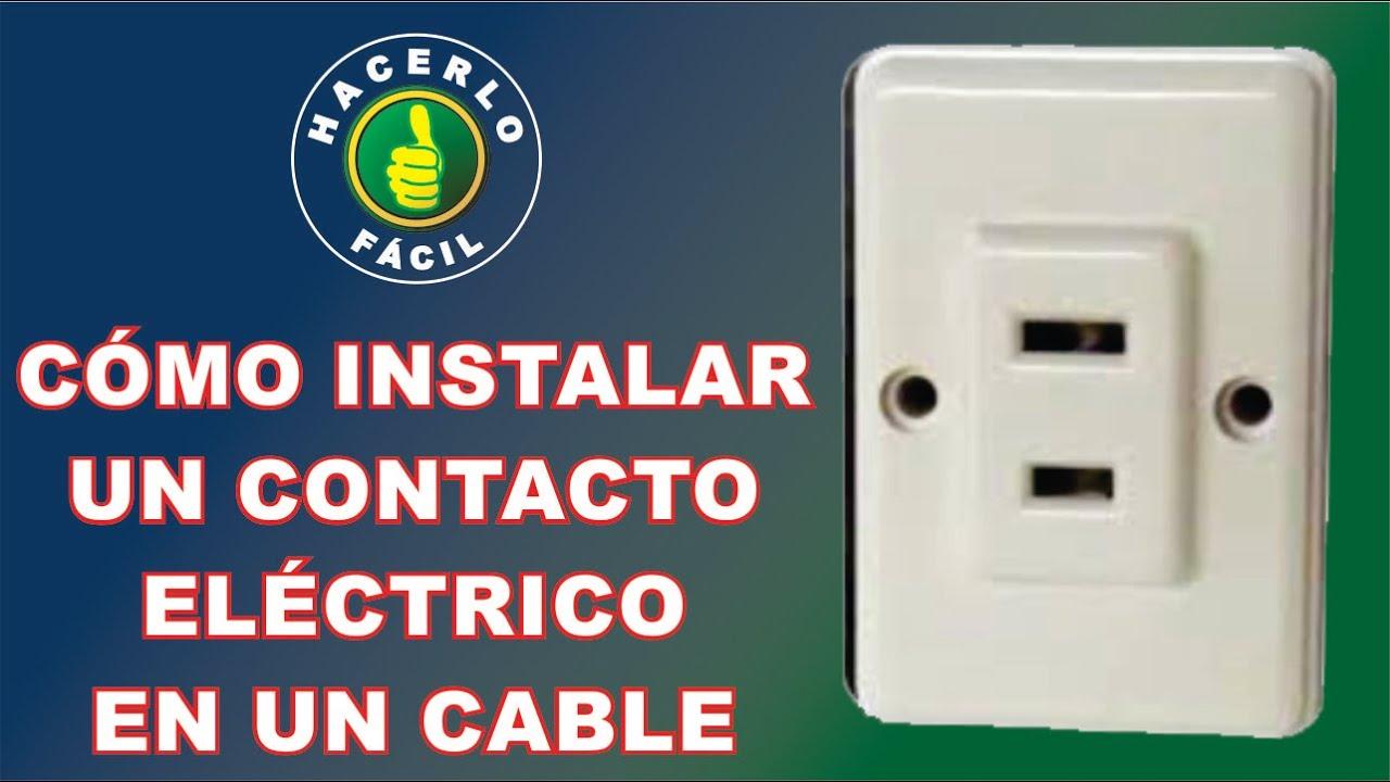 C mo instalar un contacto el ctrico en un cable hacerlo - Como instalar termo electrico ...