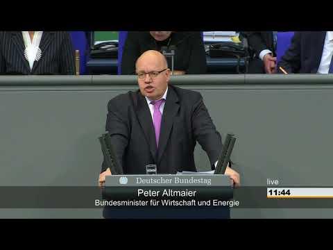 Peter Altmaier (Minister) - Aussprache zu Wirtschaft und Energie