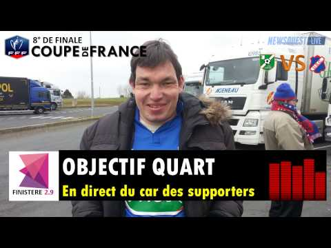 US Concarneau : En direct du car des supporters. Interview d'Hervé