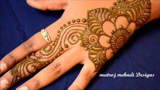 Simple Easy Mehndi Designs-1#Matroj Mehndi Designs