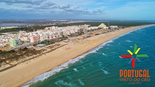 Monte Gordo aerial view - Algarve - 4K UltraHD