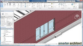 Revit Tutorials - Revit Architecture: Creating A Curtain Wall Entrance