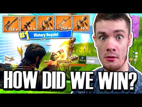 HOW WE GOT OUR FIRST VICTORY ROYALE !! (Solid Gold Mode) NEW** Fortnite Battle Royale