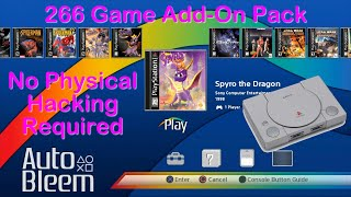 PlayStation Classic 266 Game Add-On Pack - Easy Install