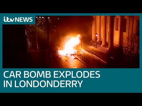 CCTV captures moment Londonderry car bomb explodes | ITV News