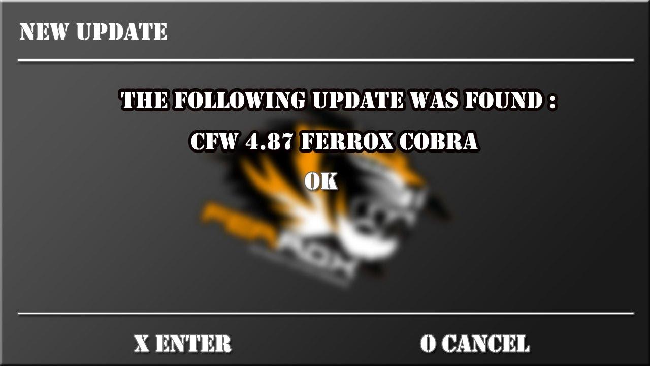 Ferrox PS3 CFW 4.87 v1.00 Featuring Cobra 8.20 Fix Bugs